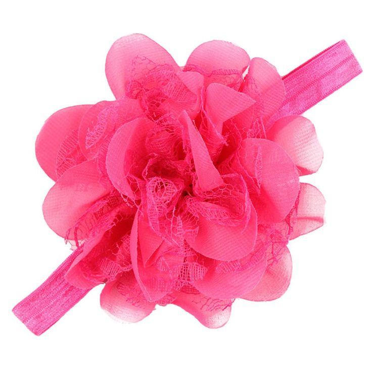 Недавно дизайн большой цветок дети девочки повязки эластичные ленты для волос для July22 #hats, #watches, #belts, #fashion, #style