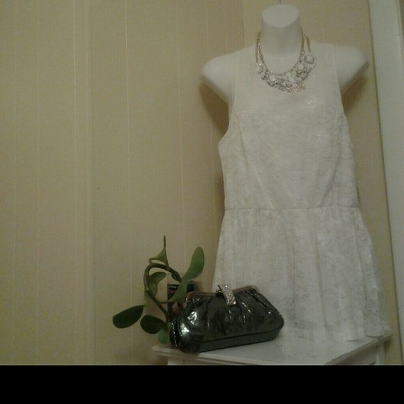 GORGEOUS  WHITE LINGERIE LACED White laced lingerie,  NWT,  97% silk, 3% cotton 2% spandex Intimates & Sleepwear Chemises & Slips