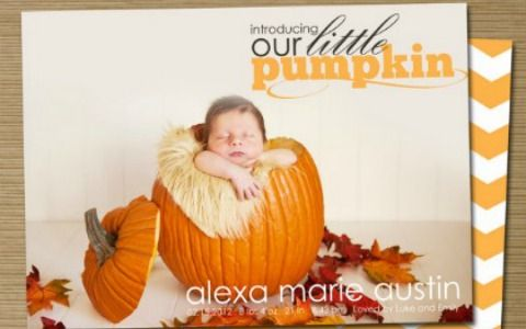 Fall in love with these 25 fall birth announcements perfect for your autumn baby!