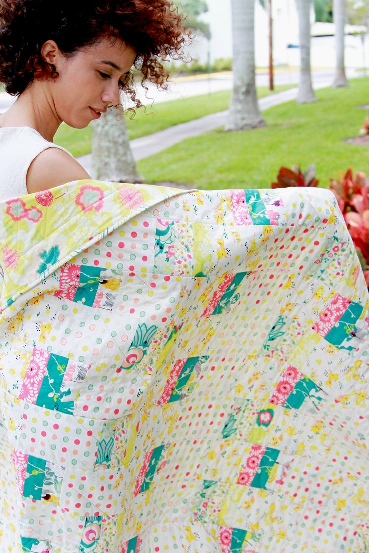 Make this fun Blissful Quilt with the ready-to-make kit! #ArtGalleryFabrics #Sew #Stitch #Thread #Kit #DIY #Design #Craft #HowTo #Makeit #Quilt #Fashion