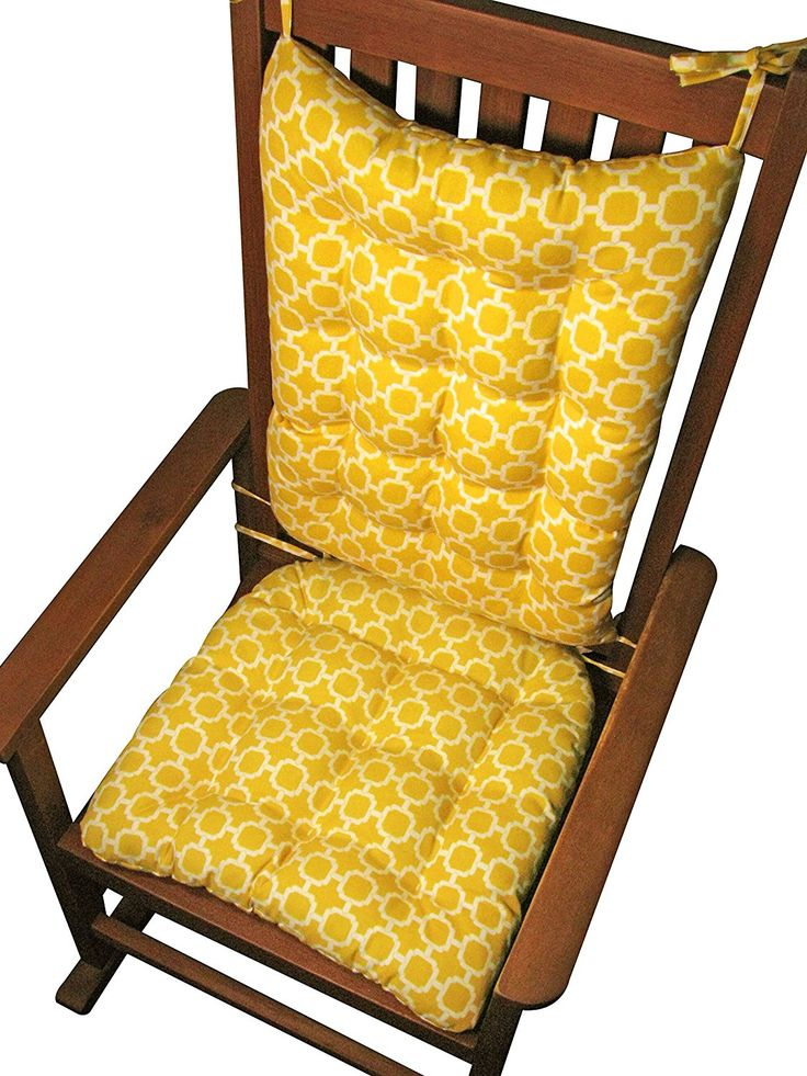 outdoor rocking chair cushions sale. porch rocker cushion set - hockley yellow extra large size indoor / outdoor: outdoor rocking chair cushions sale