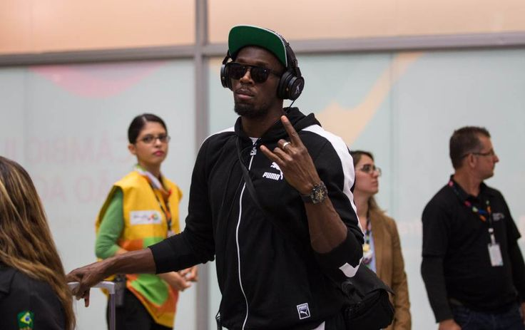 Usain Bolt touches down in Rio ahead of Olympic Games!