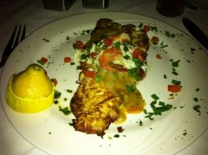 The Marlin Grill at Baytown Harbor in Sandestin, Florida. Great grouper!
