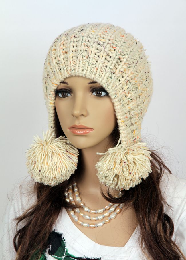 Inspiration for a project: Slouchy handmade knitted hat / http://www.luulla.com/product/41423/slouchy-woman-handmade-knitted-hat-clothing-cap