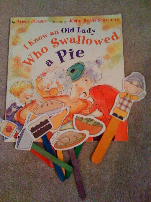 Preschool Printables: Old Lady Who Swallowed a Pie (Thanksgiving Printable)