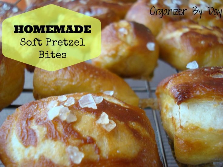 Homemade Soft Pretzel Bites with Homemade Cheese Sauce ...