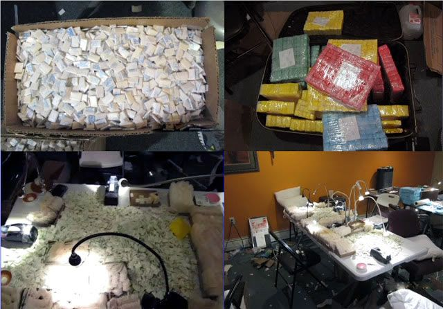 NUEVA YORK. _ Agentes de la DEA y otras agencias de la ley,  detuvieron en El Bronx a nueve dominicanos y les confiscó 140 libras de heroína valorada en $15 millones de dólares y $300 mil en