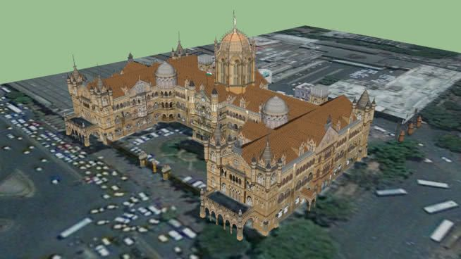 Large preview of 3D Model of Chatrapathi Shivaji Terminal (Mumbai Railway Station)