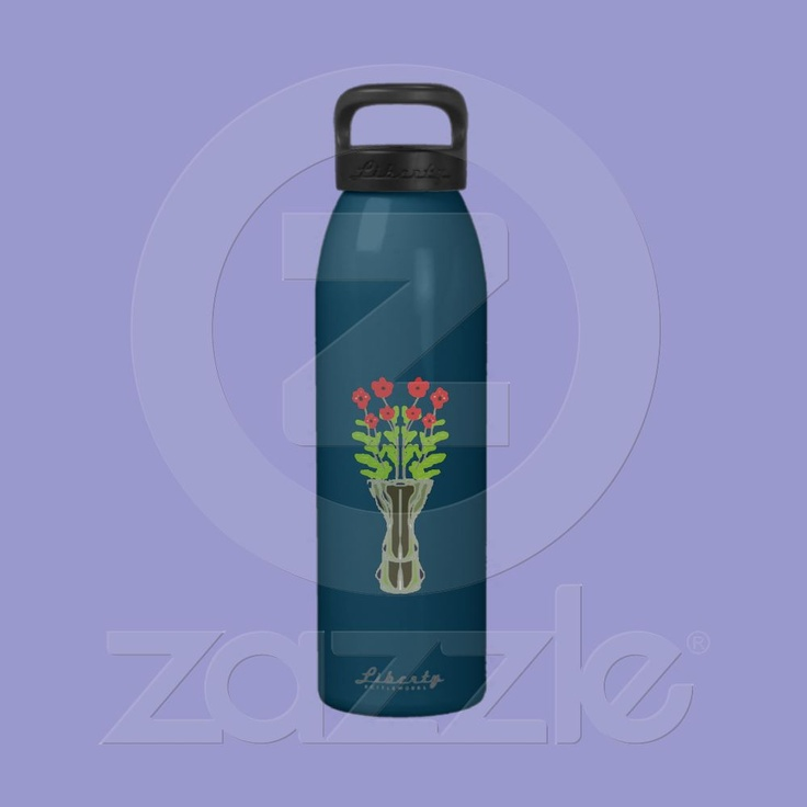 Vase of Flowers Liberty Bottle Reusable Water Bottle from Zazzle.com