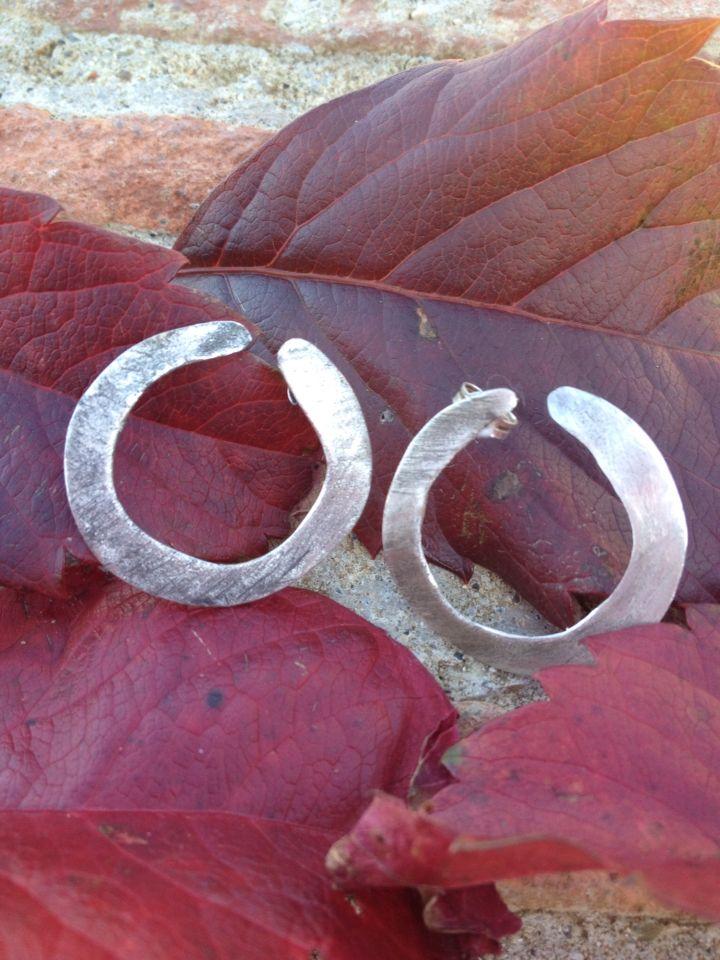 Silver earrings, handmade in Italy