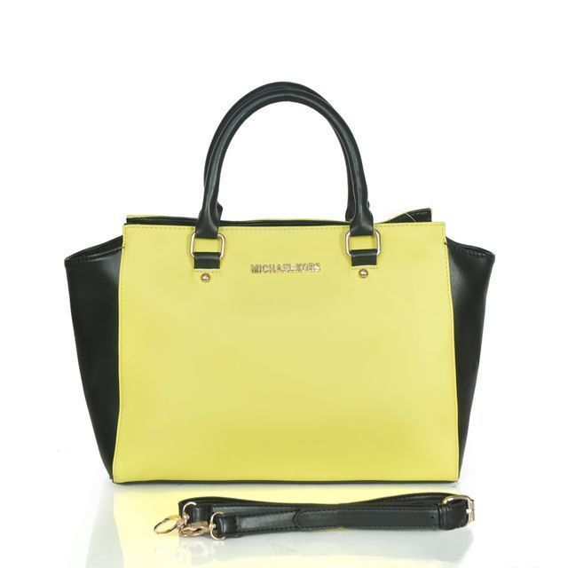 Michael Kors Outlet Selma Saffiano Large Yellow Satchels, -Michael Kors factory outlet online sale