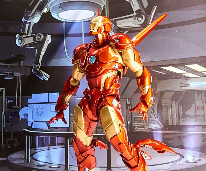 New Marvel Amazing Yamaguchi Revoltech Bleeding Edge Armor Iron Man Figure Images In 2021 Iron Man Marvel Comic Movies