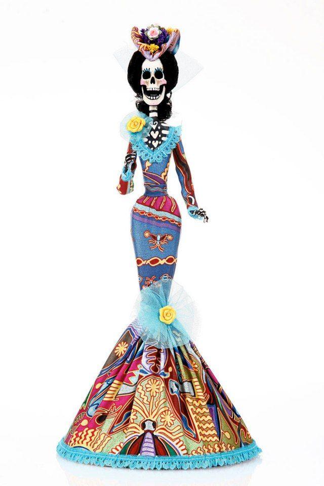 Pineda Covalín Catrinas, Catrinas Elegantes, Catrinas Mexicanas, Muñecas Mexicanas, Vestidos Típicos, Calavera Mexicana, Calavera Catrina, Baño Nice,