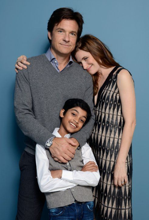 Jason Bateman, Kathryn Hahn and Rohan Chand at event of Bad Words (2013)