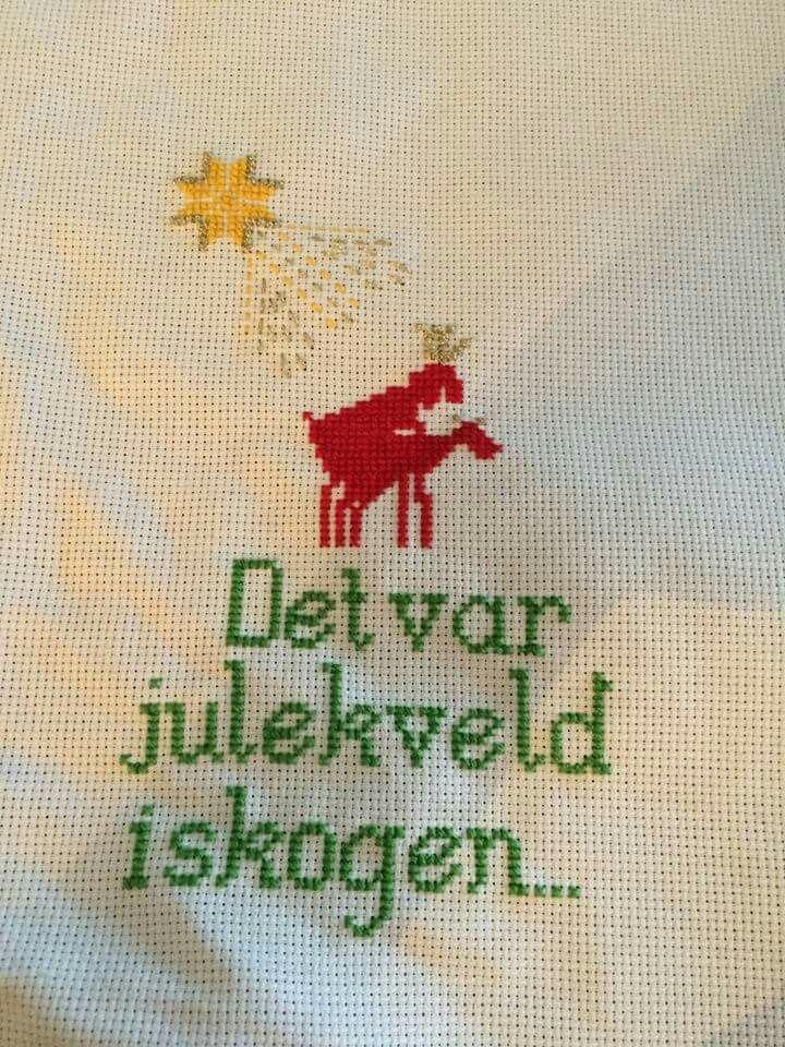"""Geriljabroderi - """"Det var julekveld i skogen..."""""""