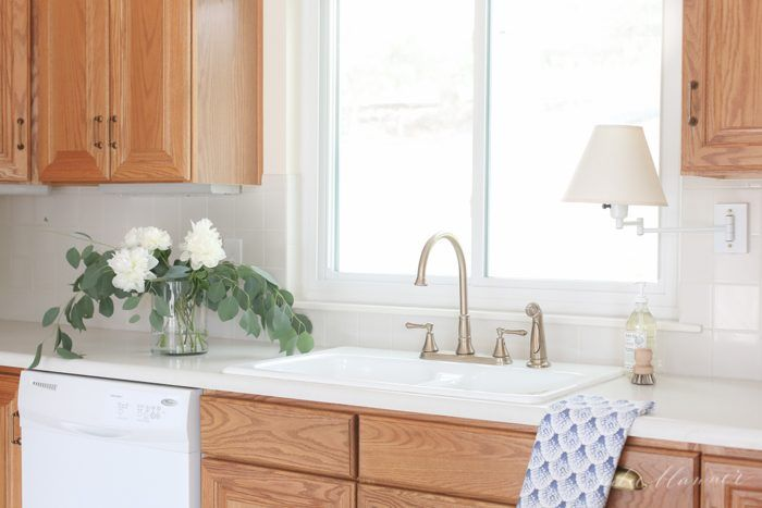 Without Painting Cabinets: How To Update A 90's Kitchen Without Painting The Cabinets
