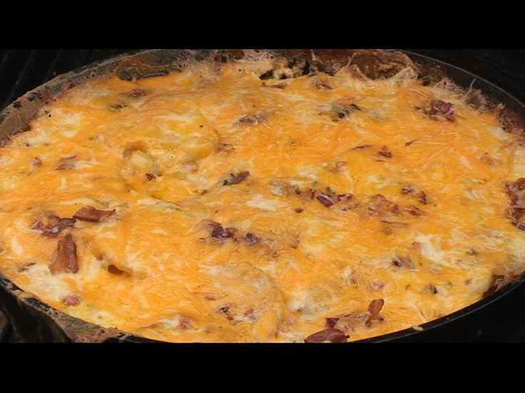 Scalloped Potatoes w/ Bacon Cheese & Chives Recipe   BBQ Pit Boys