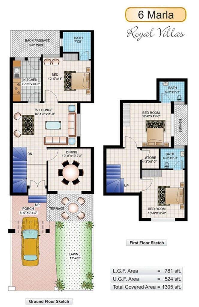 6 Marla House Plans 20x40 House Plans 20x30 House Plans My House Plans