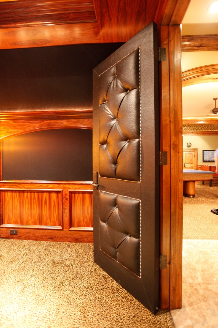 Padded Theatre Door For Sound Insulation Home Theatre