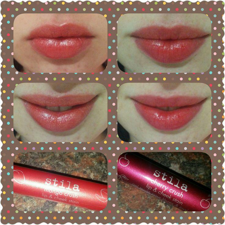 Right: Cherry Crush / Stila Lip & Cheek Stain