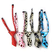 Di nuova progettazione cane gatto regolabile collo cravatta corta del leopardo del poliestere cravatte per pet puppy grooming accessori july17(China (Mainland))
