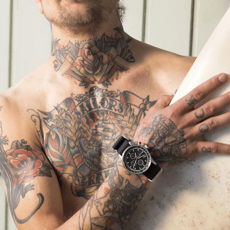 LW33 - Lars Larsen - Herreur - Sort nato rem #watch #danish #design