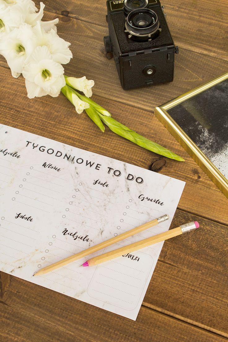 Marmurowa lista to do, mój planner rzeczy do zrobienia nie wymaga olbrzymiego zaangażowania, dlatego sprawdzi się u praktycznie u każdego.
