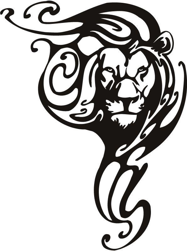 Tribal Animals   Lion Tribal Animals Wall Stickers Wall Art Decals Transfers   eBay