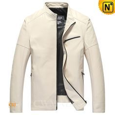 CWMALLS® Mens Designer Leather Jacket CW806053 Original designer leather jacket in 100% lambskin leather, available in white,black. Classics men's leather jacket finished with rich lambskin, YKK zip closure, stand collar and zip cuffs. CWMALLS offer custom, wholesale service for this leather jacket. www.cwmalls.com PayPal Available (Price: $577.89) Email:sales@cwmalls.com
