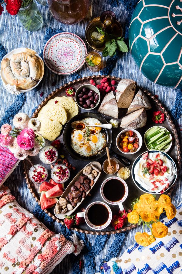 The Perfect Moroccan Brunch - A beautiful and delicious Moroccan spread to be enjoyed by all...yes, even the picky eaters! @halfbakedharvest.com