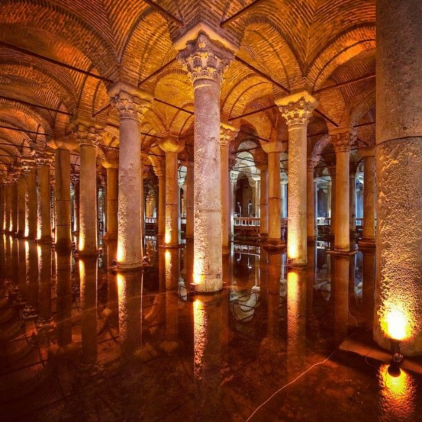 The Basilica Cistern, located in the crowded Eminönü district of Istanbul next to the Hagia Sophia, was built to provide water for the city of Istanbul during the reign of Emperor Justinian I in the 6th century CE. #Istanbul #Turkey #SultanAhmet #CelineHotel #Hotel #HagiaSophia #Historical #Byzantine