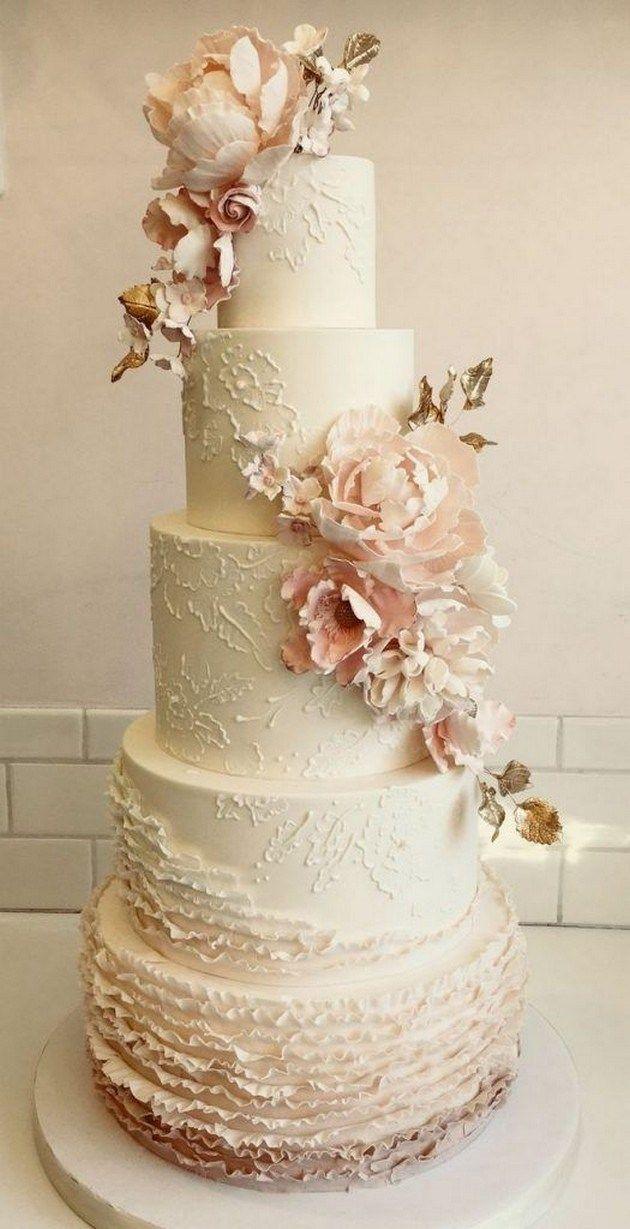 52 Drei Tier White Line Textur Hochzeitstorte #Hochzeitstorten #Hochzeitstortenideen | …   – WEDDING CAKES