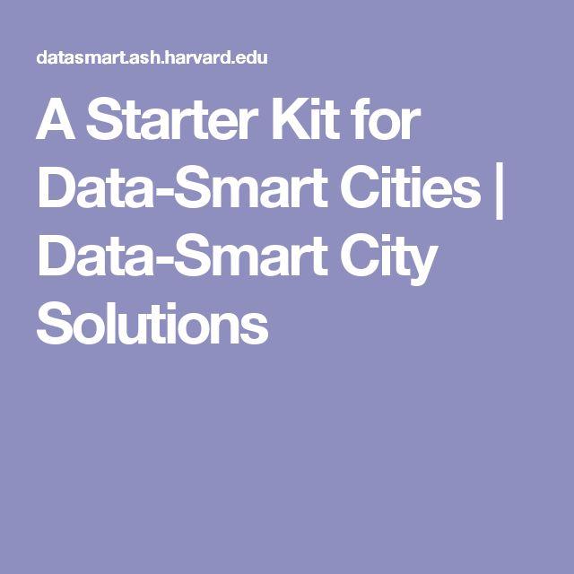 A Starter Kit for Data-Smart Cities | Data-Smart City Solutions