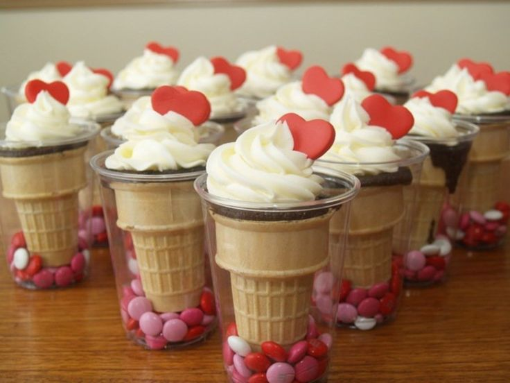 Valentine's Ice Cream Cone Cupcakes  on Cake Central