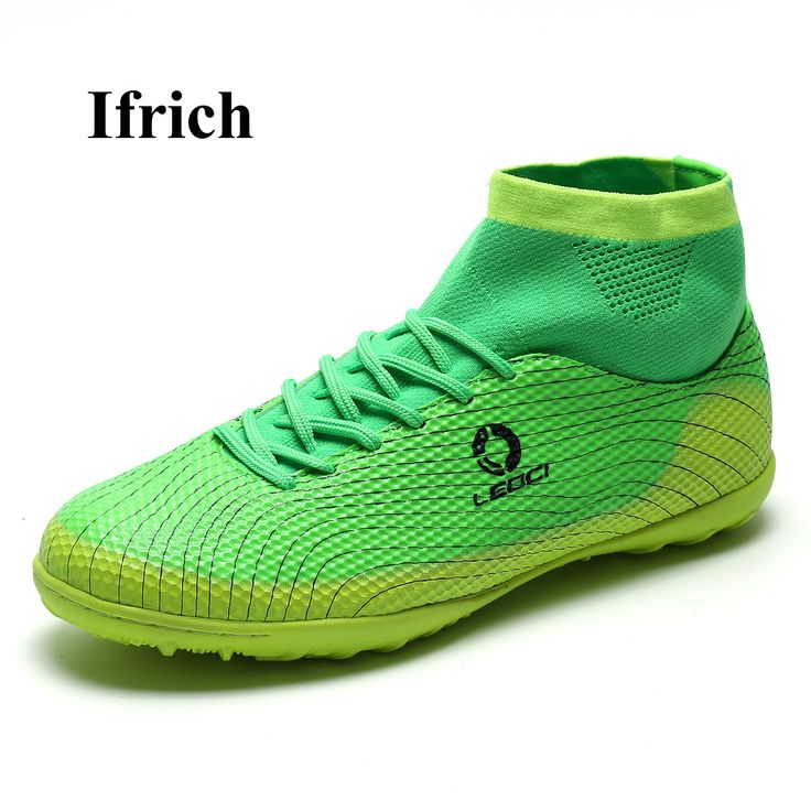 Ifrich Men Kids Football Boots High Ankle Soccer Shoes Green Blue Soccer Turf Cleats Boys Men Ankle Soccer Boots Cheap Trainers #Affiliate