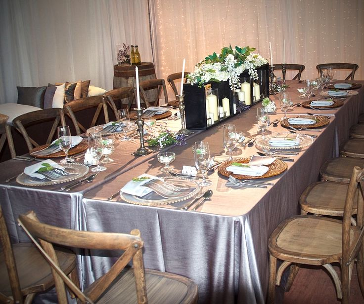 Another take on our Prairie Vineyard Collection, a simple transformation using the rustic crossback chairs