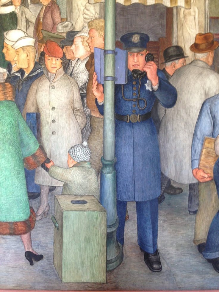 7 best images about new deal era art wpa on pinterest for Coit tower mural artists