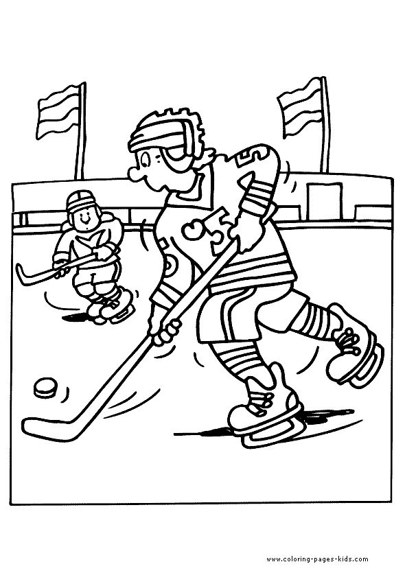 Ice hockey Winter sports color page, sports coloring pages, color plate, coloring sheet,printable coloring picture