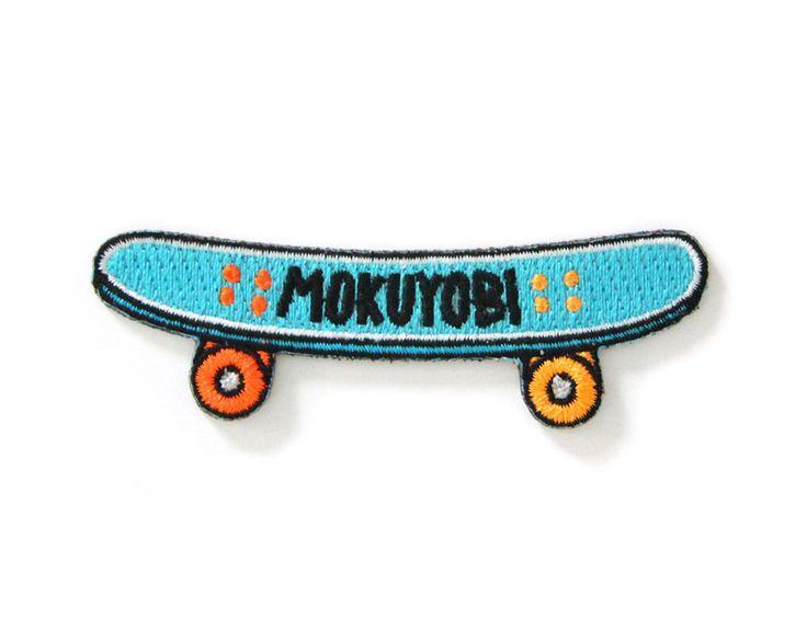 Mokuyobi Skate Iron On Patch by MokuyobiThreads on Etsy…