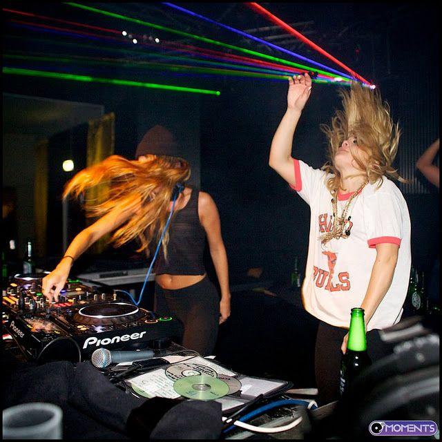 Rebecca & Fiona 2011 Dec #edm #djs #female_djs #rebecca_and_fiona Rebecca Scheja and Fiona FitzPatrick