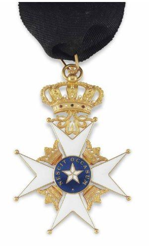 A medal awarded to Sir Ernest Shackleton - Polar Star of Sweden, 1909