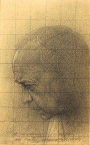 Un ritratto di Sciascia di Piero Guccione