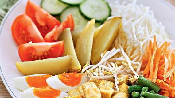 Салат гадо-гадо, пошаговый рецепт с фото