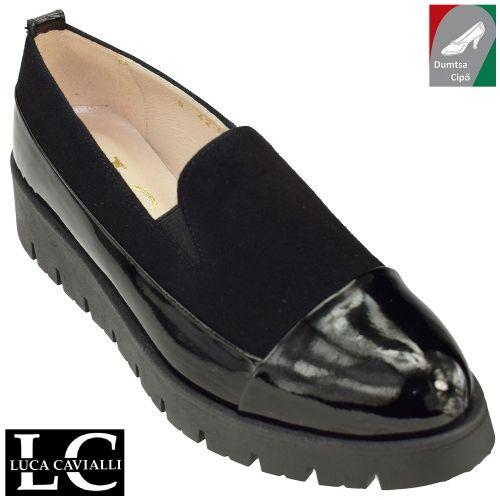 Luca cavialli női bőr cipő 4211 fekete/lakk