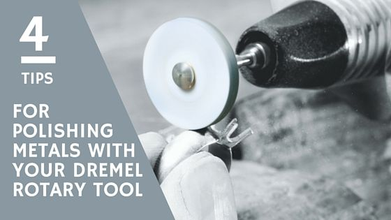 4 Tips for Polishing Metals With Your Dremel Rotary Tool. When polishing silver jewellery there's a few different tools that I like to use. Here's 4 top tips on how to polish metals without fuss or mess! Plus details on some of the other polishing attachments out there that you can use with your Dremel