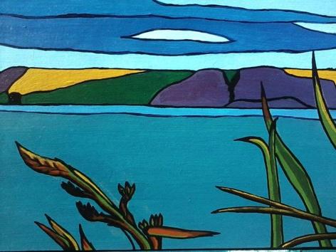 "Detail of ""Mana Island""    Chrissie Sullivan LittleTaniwha"