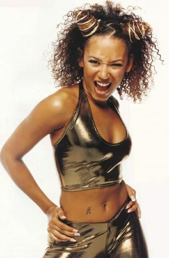 The 10 Hottest Halloween Costume Ideas For Curly Hair In 2020 Scary Spice Costume Curly Hair Photos Curly Hair Styles