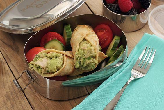 Paleo Tuna Avocado Tortilla Wraps #PaleoNewbie