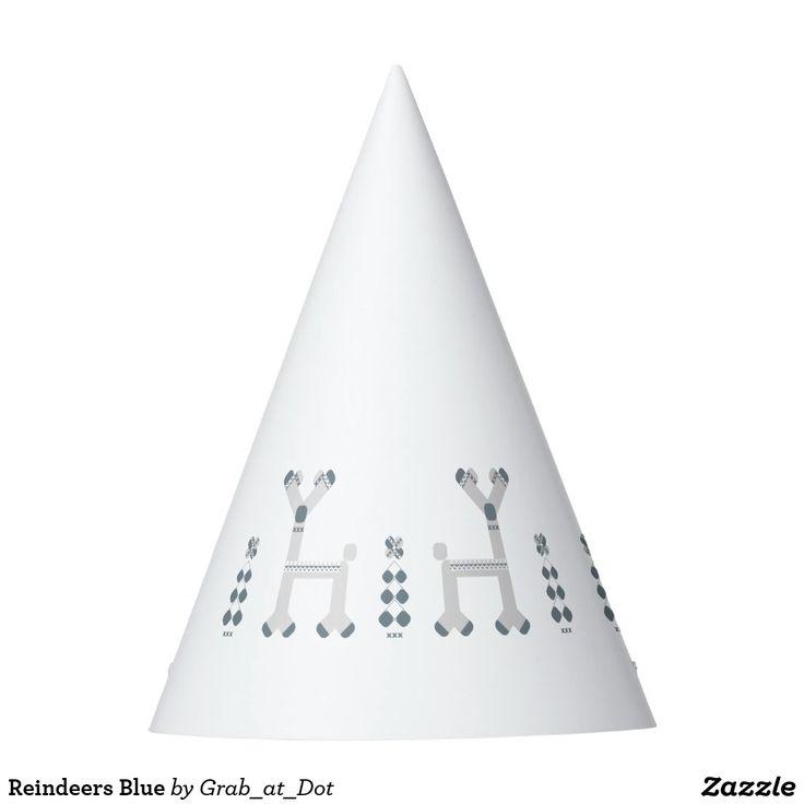 Reindeers Blue Party Hat