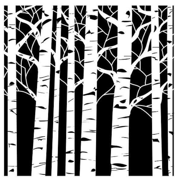 Birch Tree Stencil - embossing+stencils - Tools - Shop                                                                                                                                                      More